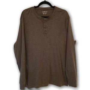 Croft & Barrow Easy Care Henley Long Sleeve Top XL